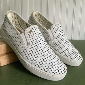 Michael Kors OLIVIA Perforated Leather Slip Ons